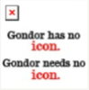 Gondor Has No Icon