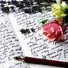 writing and rose