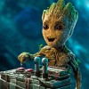 I always say the wrong thing: baby groot button