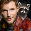 Avengers-GotG-Starlord with raccoon
