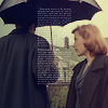Mulder and Scully - umbrella