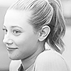 beccathegleek: Betty - HAPPY(b&w) - Riverdale