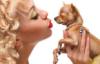 Женщина и собачка