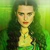 Morgana :: green dress/background