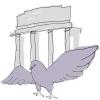 лого с голубем