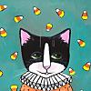 Halloween Candy Corn Cat