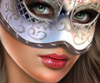 девушка в маске .