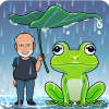 frog umbrella liliy pad