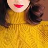 cozy yellow sweater