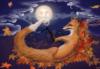 Лиса и луна