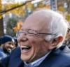 Sanders laughing