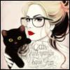 Девушка, леди, кот, аватарка, надпись