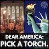 america pick a torch