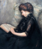 Lady reading poetry