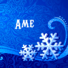 Ame - Blue Snowflakes by allbottedup