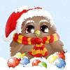 Christmas: Owl (Santa)