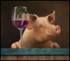Поросенок с вином
