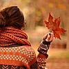 autumn girl leaf