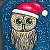 Christmas: Owl (Santa hat)