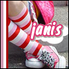 Sana-Chan!: striped socks //  me