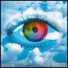 rainbow eye in the sky
