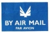 par avion: blue air mail