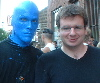 Jason L. Froebe: blue man