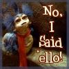 ello worm happy // 100x100