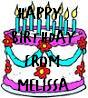 birthday from melissa