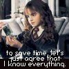 Hermione - Know everything
