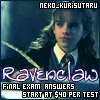 Kuri the OmniAwesome: Ravenclaw Exam Ans. -  _fake_wings
