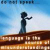 language = misunderstanding