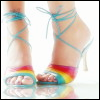 sexy rainbow shoes