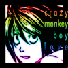 l death note crazy monkey boy love