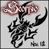 scorpio: november 12