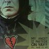 snape: pastede angst, snape angst, self-mockery, sarcasm, realistic snape