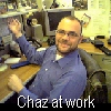 Chaz at work