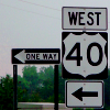 One Way: US 40 West