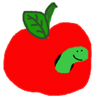 apple/worm