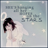 hanging her hopes on the stars
