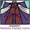 Perfectly framed crotch
