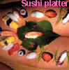 sushi platter - by me