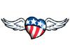 Patriotic winged heart
