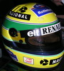Ayrton's yellow helmet
