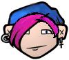 blue pink avatar