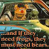 muppetology need bears fozzie & kermit