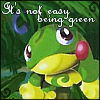 :(, Greens and blues, Nyoro~tono, It's not easy being green, ര⌒ര