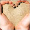 sand heart (love)
