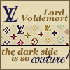 harry potter; voldemort is so couture!