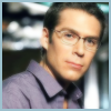 Wesley Wyndam-Pryce: Wes glasses blue shirt